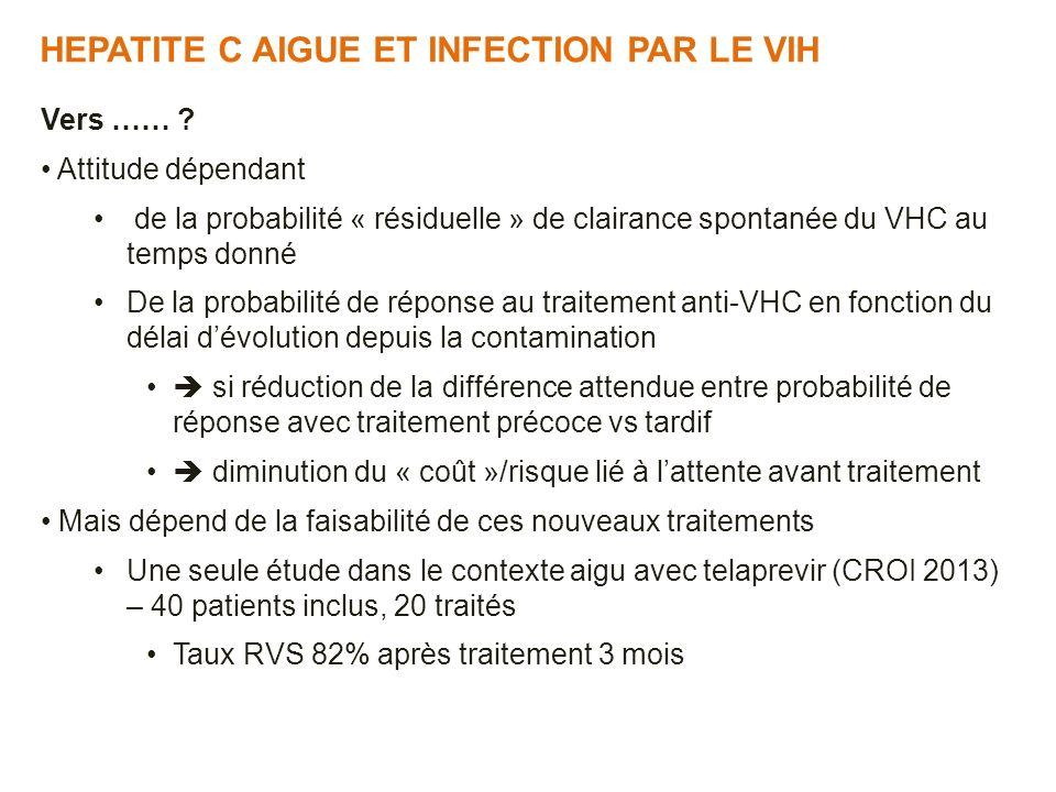 HEPATITE C AIGUE ET INFECTION PAR LE VIH