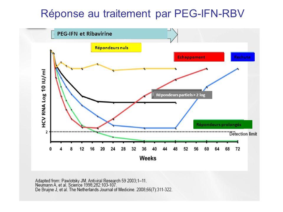 Réponse au traitement par PEG-IFN-RBV