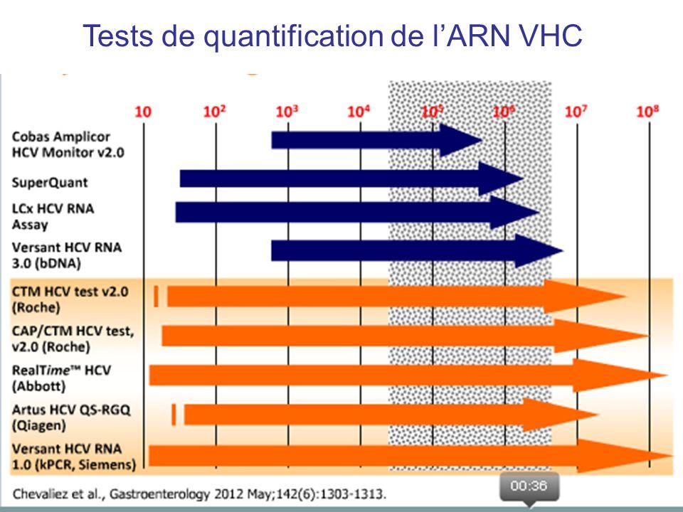 Tests de quantification de l'ARN VHC
