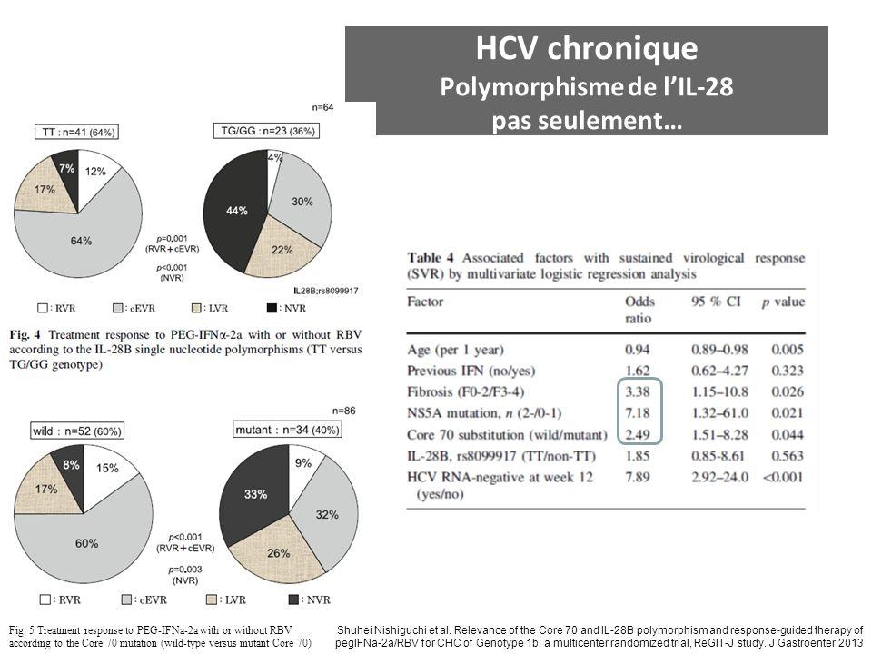 HCV chronique Polymorphisme de l'IL-28 pas seulement…