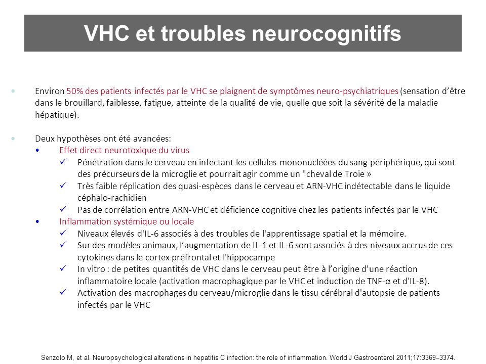 VHC et troubles neurocognitifs