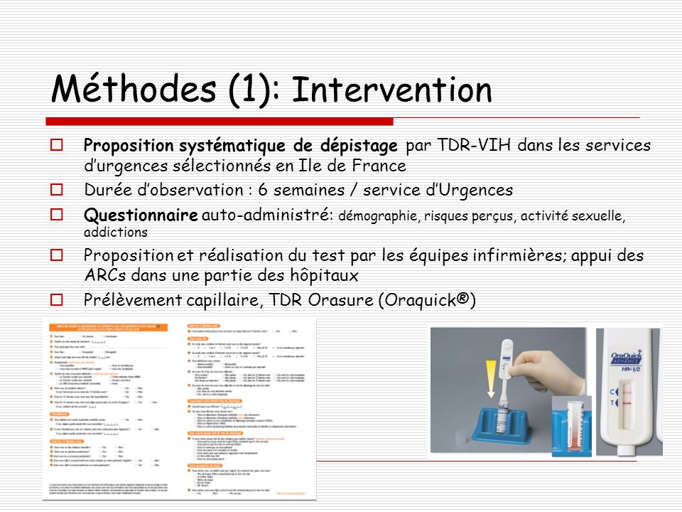 Méthodes (1): Intervention