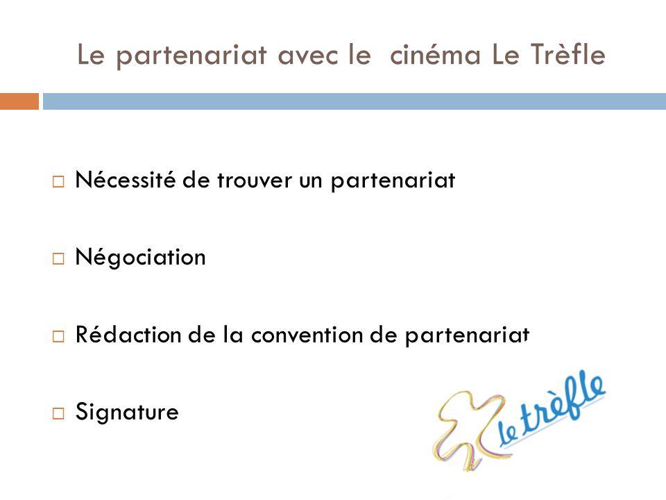Le partenariat avec le cinéma Le Trèfle