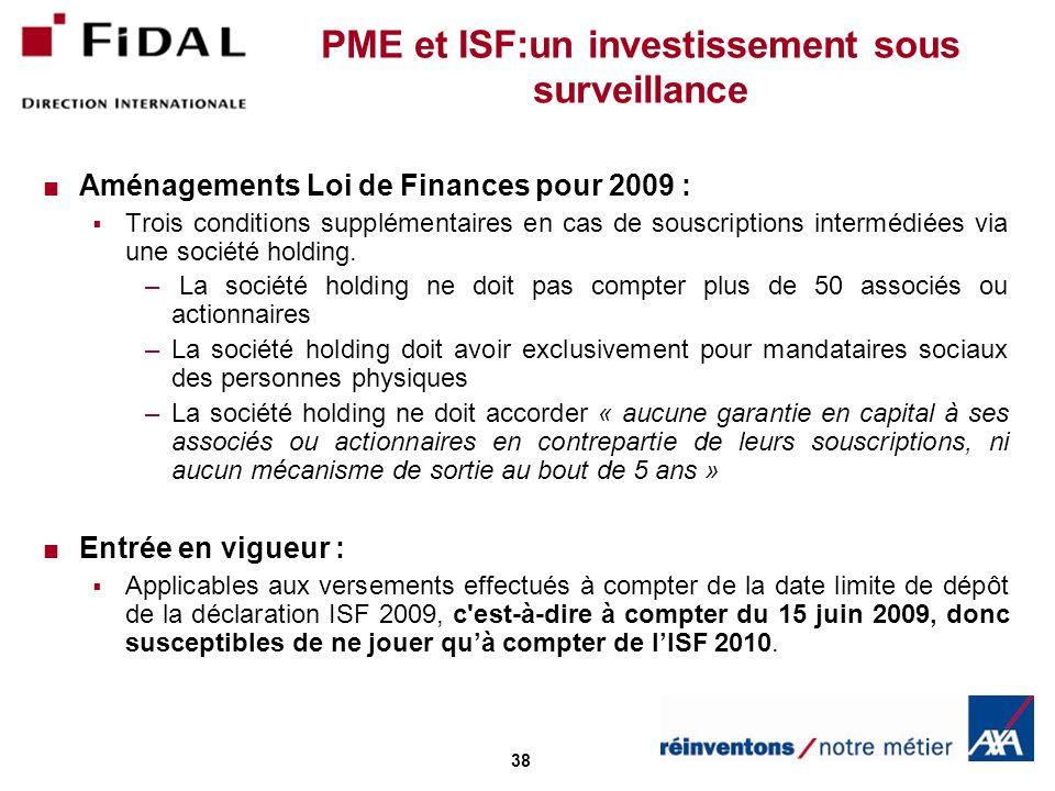PME et ISF:un investissement sous surveillance