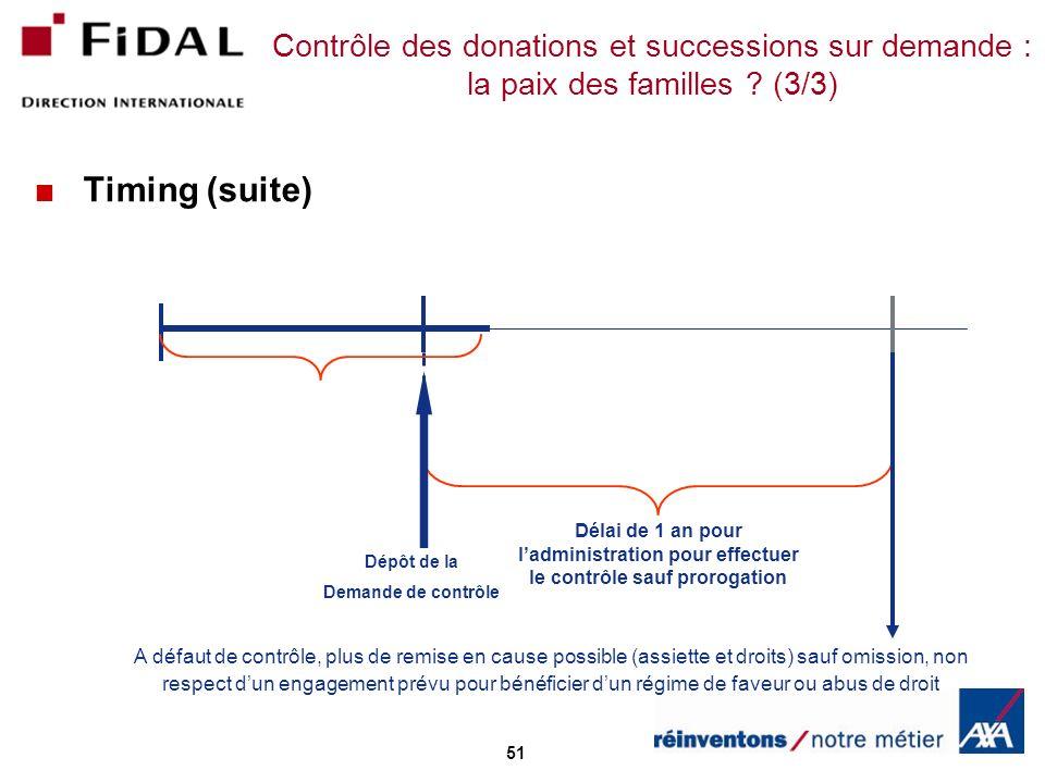 Contrôle des donations et successions sur demande : la paix des familles (3/3)
