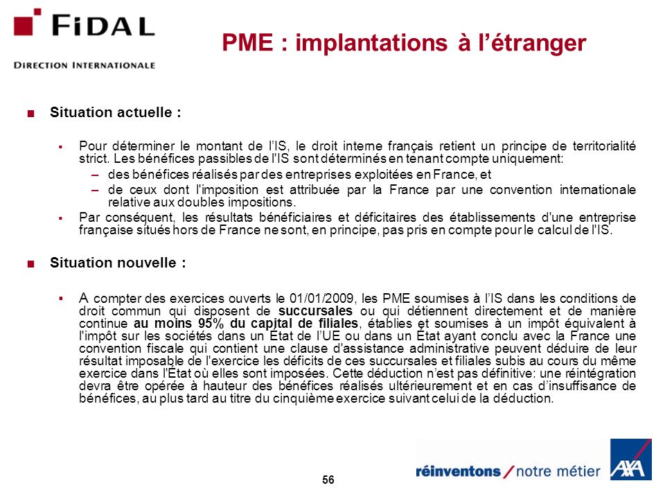 PME : implantations à l'étranger