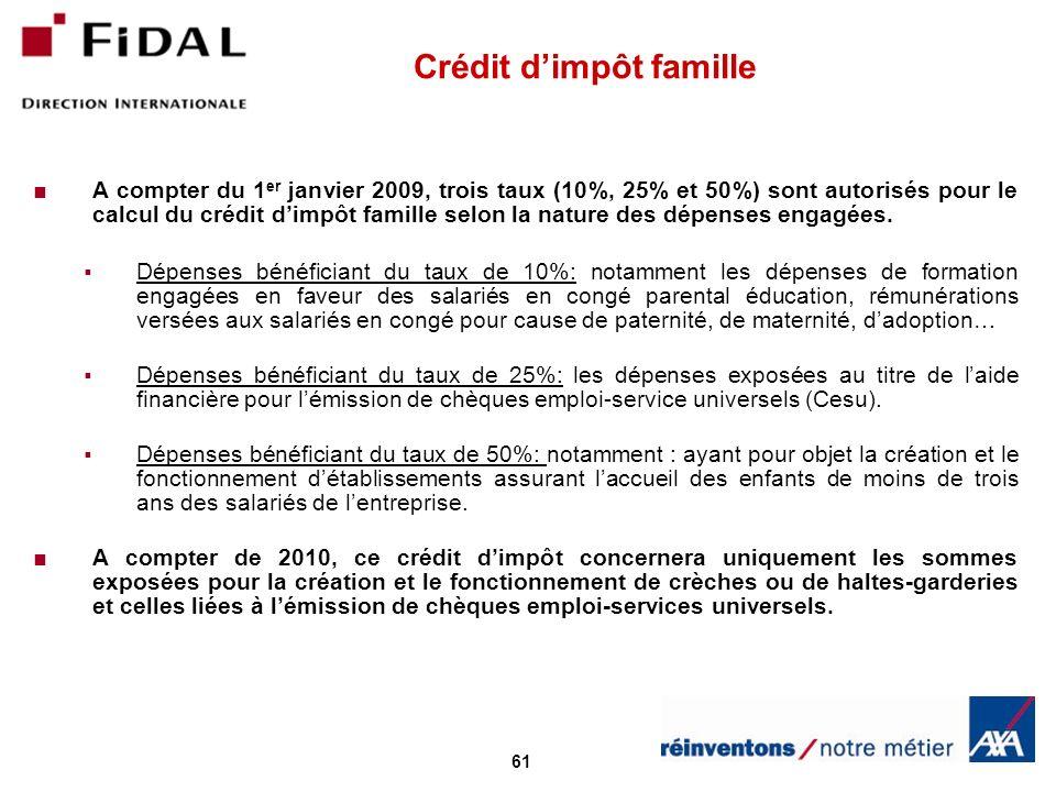 Crédit d'impôt famille
