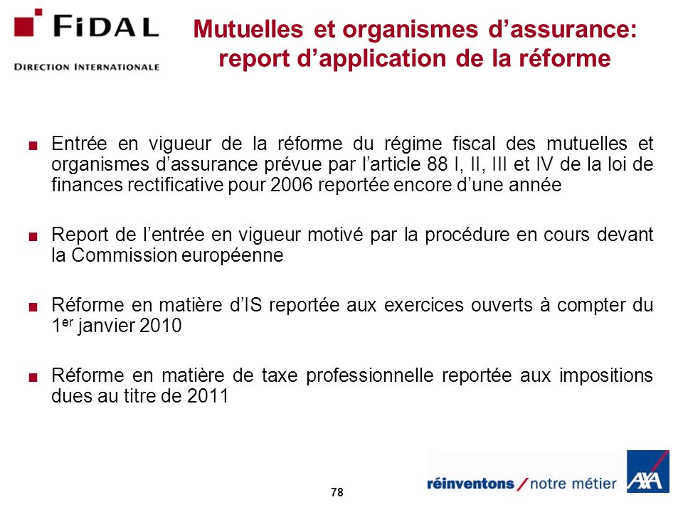 Mutuelles et organismes d'assurance: report d'application de la réforme