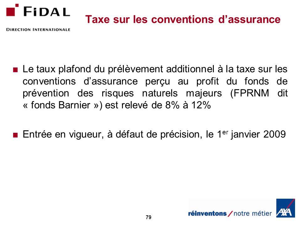 Taxe sur les conventions d'assurance