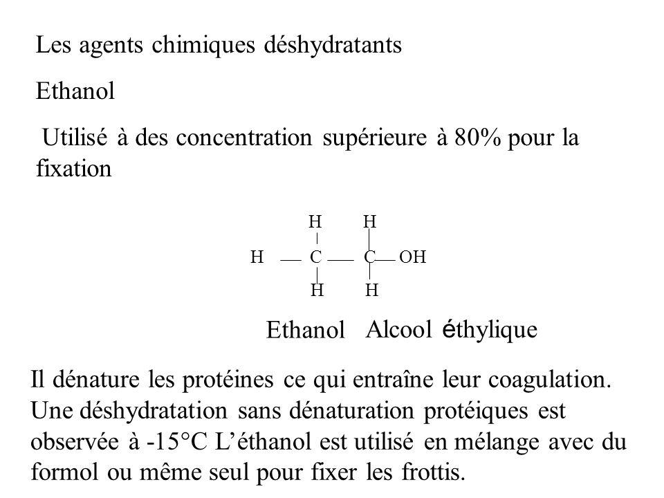 Les agents chimiques déshydratants Ethanol