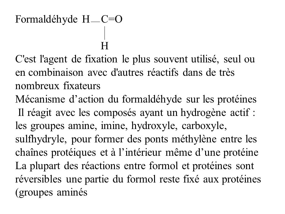 Formaldéhyde H C=O H.