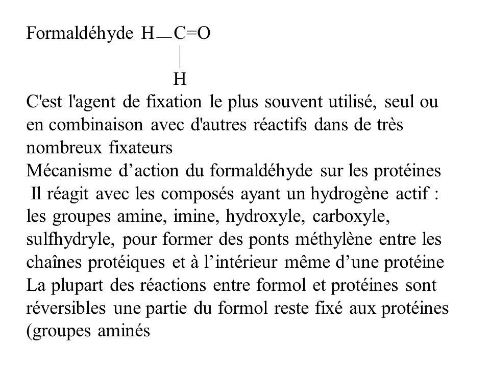 Formaldéhyde H C=OH.