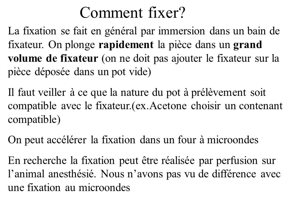 Comment fixer
