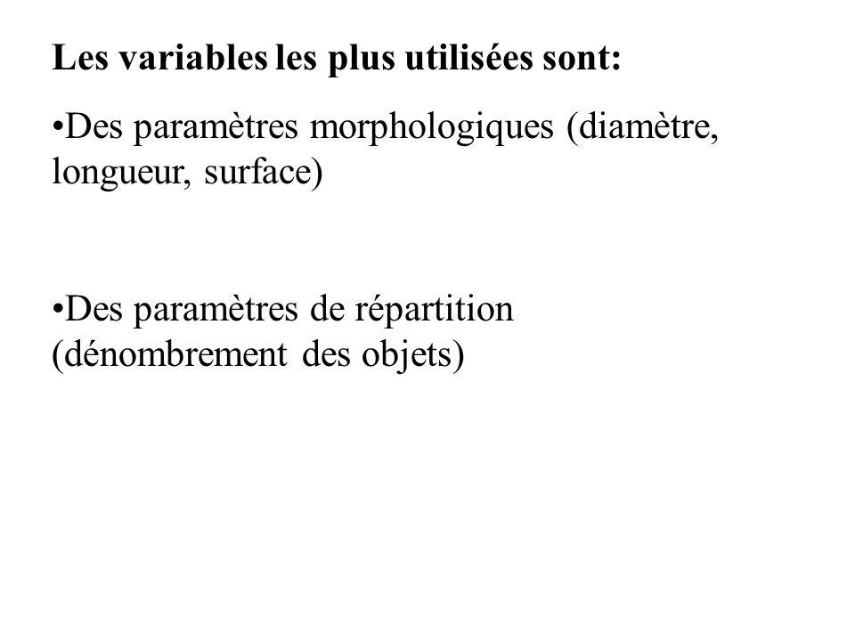 Les variables les plus utilisées sont: