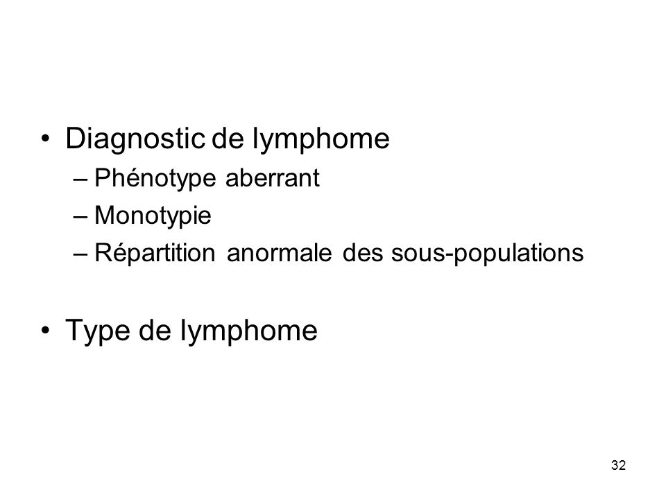 Diagnostic de lymphome