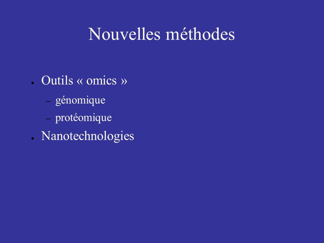 Nouvelles méthodes Outils « omics » Nanotechnologies génomique