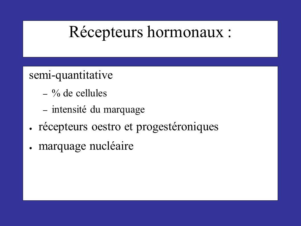 Récepteurs hormonaux :