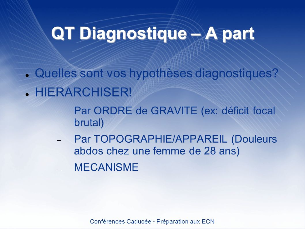 QT Diagnostique – A part