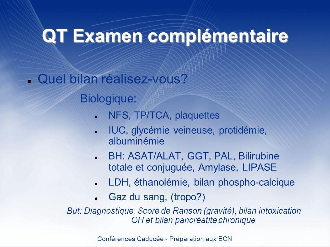 QT Examen complémentaire