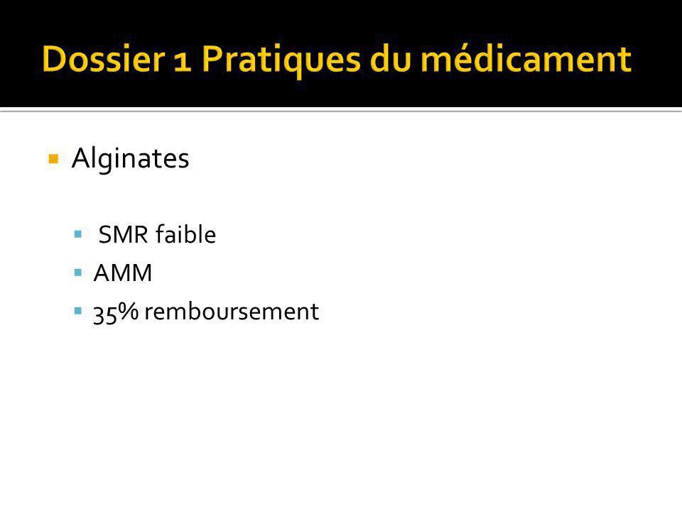 Dossier 1 Pratiques du médicament