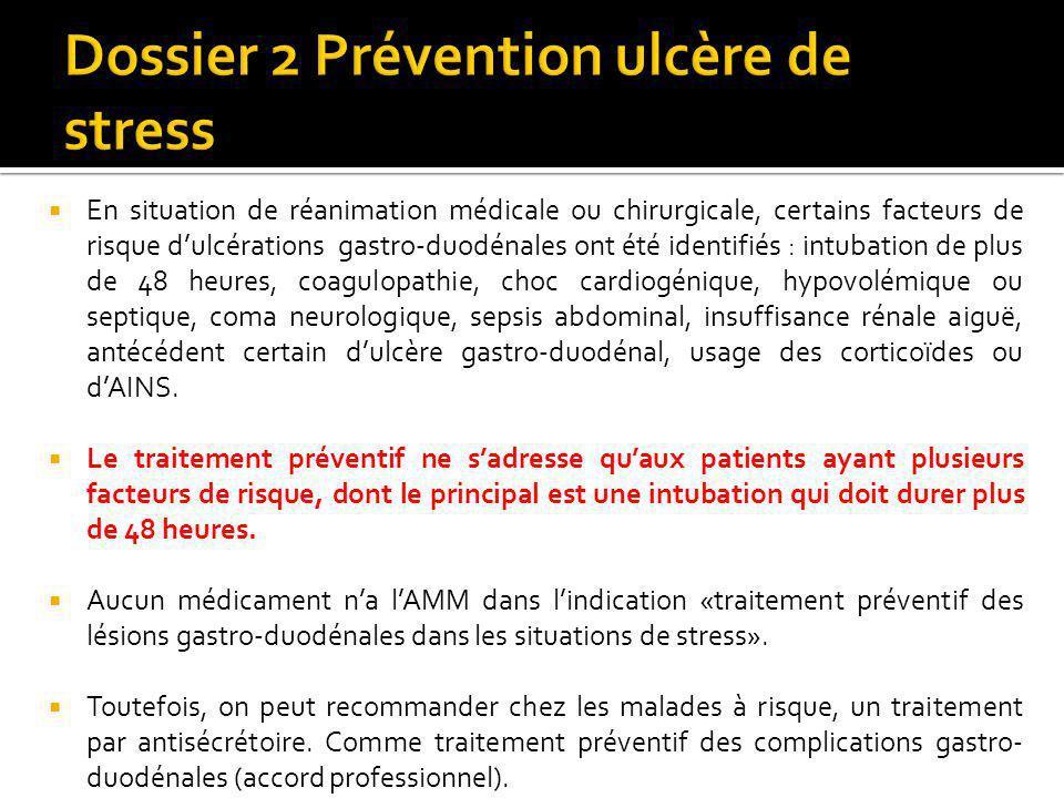 Dossier 2 Prévention ulcère de stress