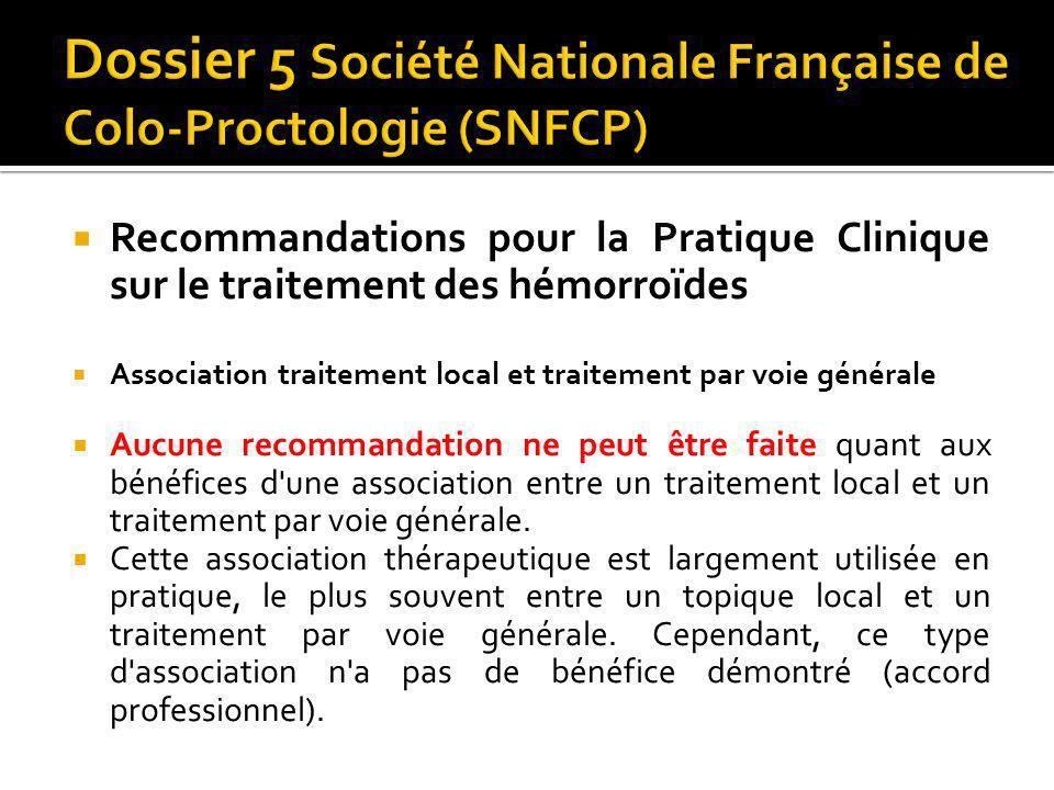 Dossier 5 Société Nationale Française de Colo-Proctologie (SNFCP)