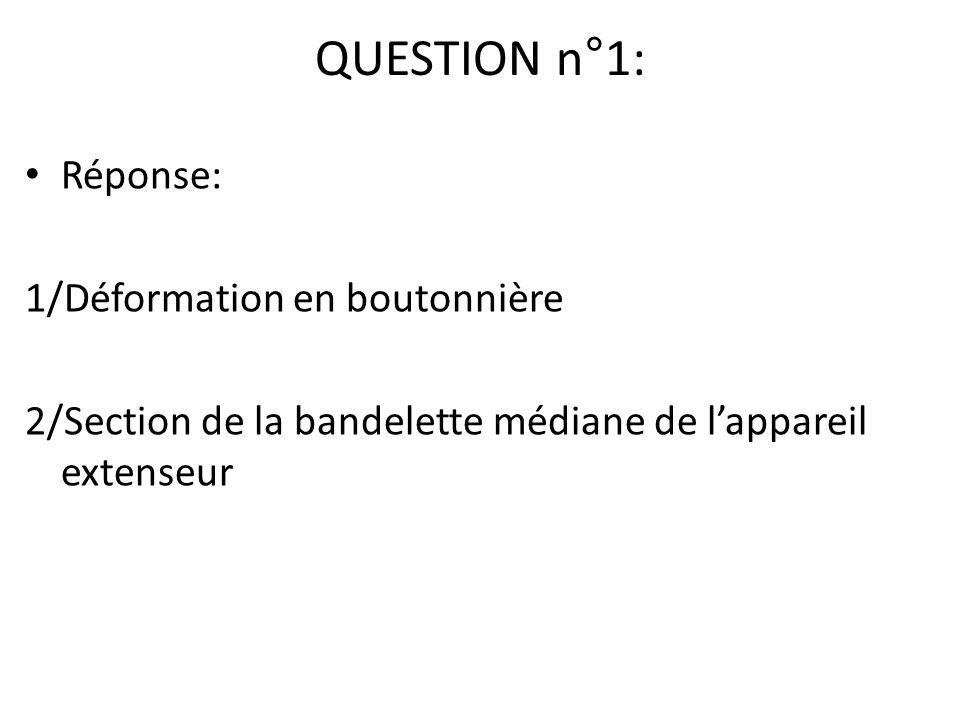 QUESTION n°1: Réponse: 1/Déformation en boutonnière