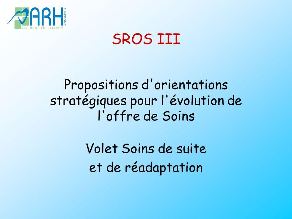 SROS III Propositions d orientations stratégiques pour l évolution de l offre de Soins. Volet Soins de suite.