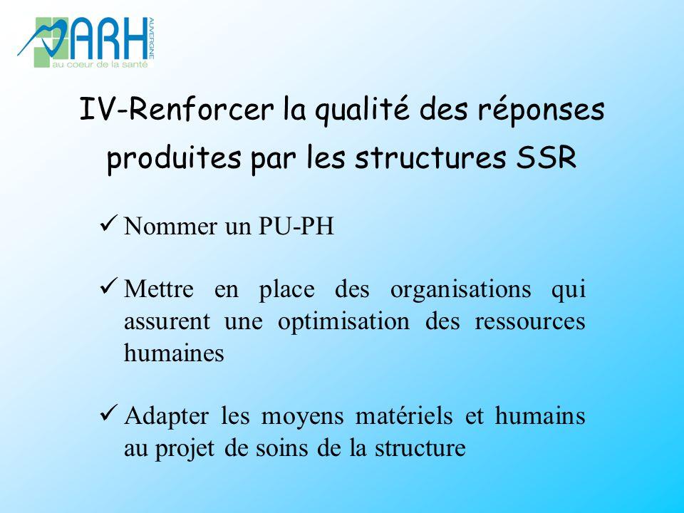 IV-Renforcer la qualité des réponses produites par les structures SSR
