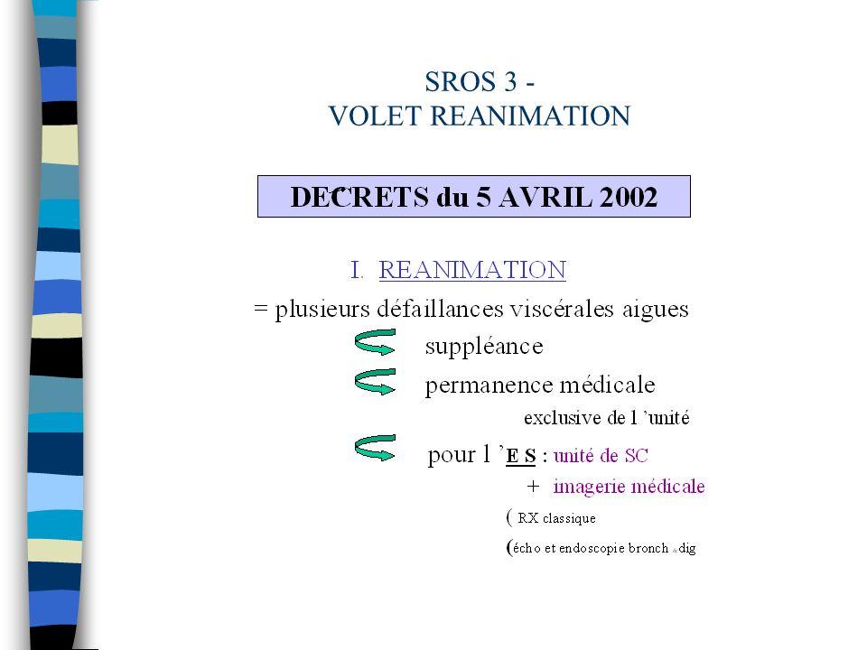 SROS 3 - VOLET REANIMATION