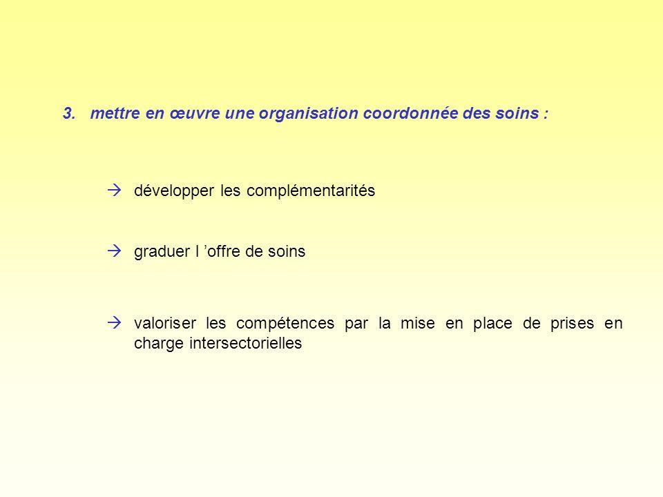 3. mettre en œuvre une organisation coordonnée des soins :