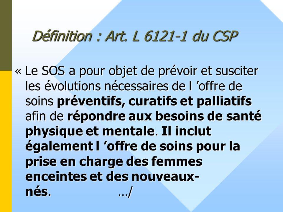 Définition : Art. L 6121-1 du CSP