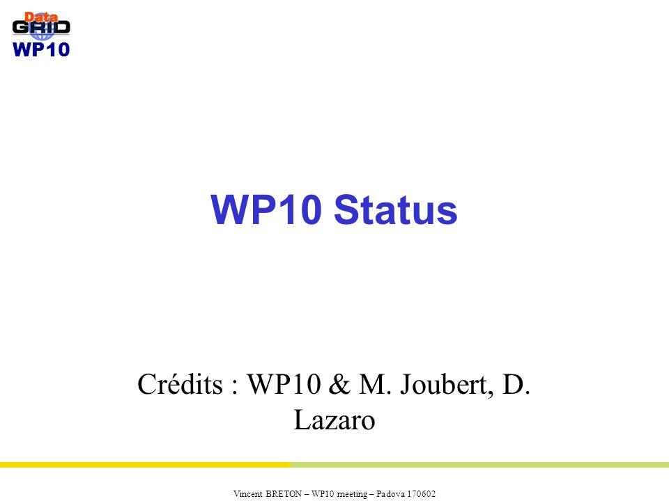 Crédits : WP10 & M. Joubert, D. Lazaro