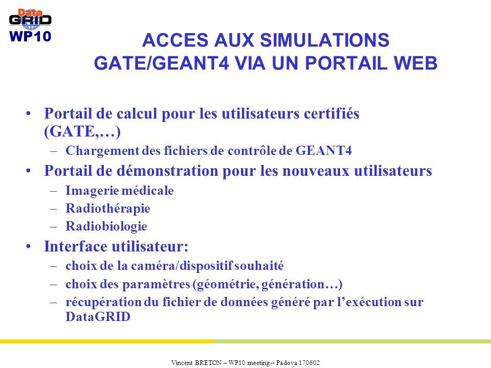 ACCES AUX SIMULATIONS GATE/GEANT4 VIA UN PORTAIL WEB