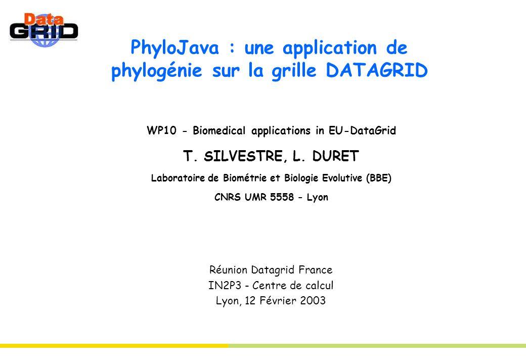 PhyloJava : une application de phylogénie sur la grille DATAGRID