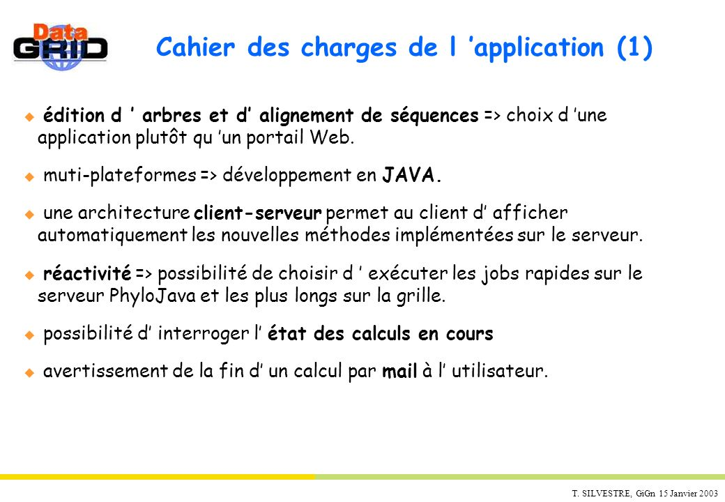 Cahier des charges de l 'application (1)
