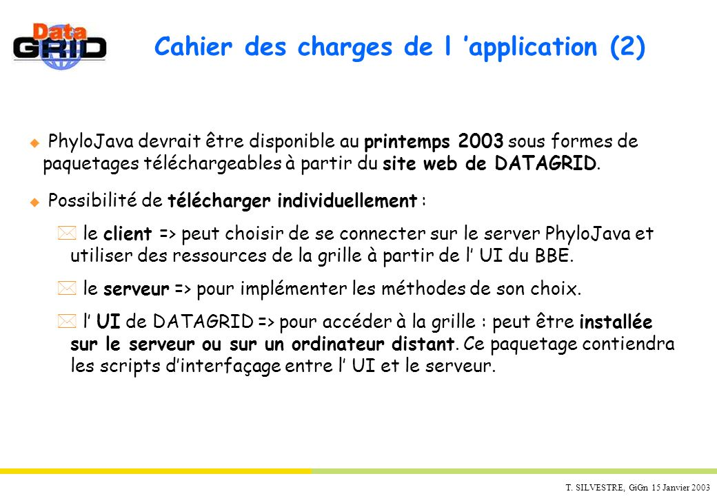 Cahier des charges de l 'application (2)