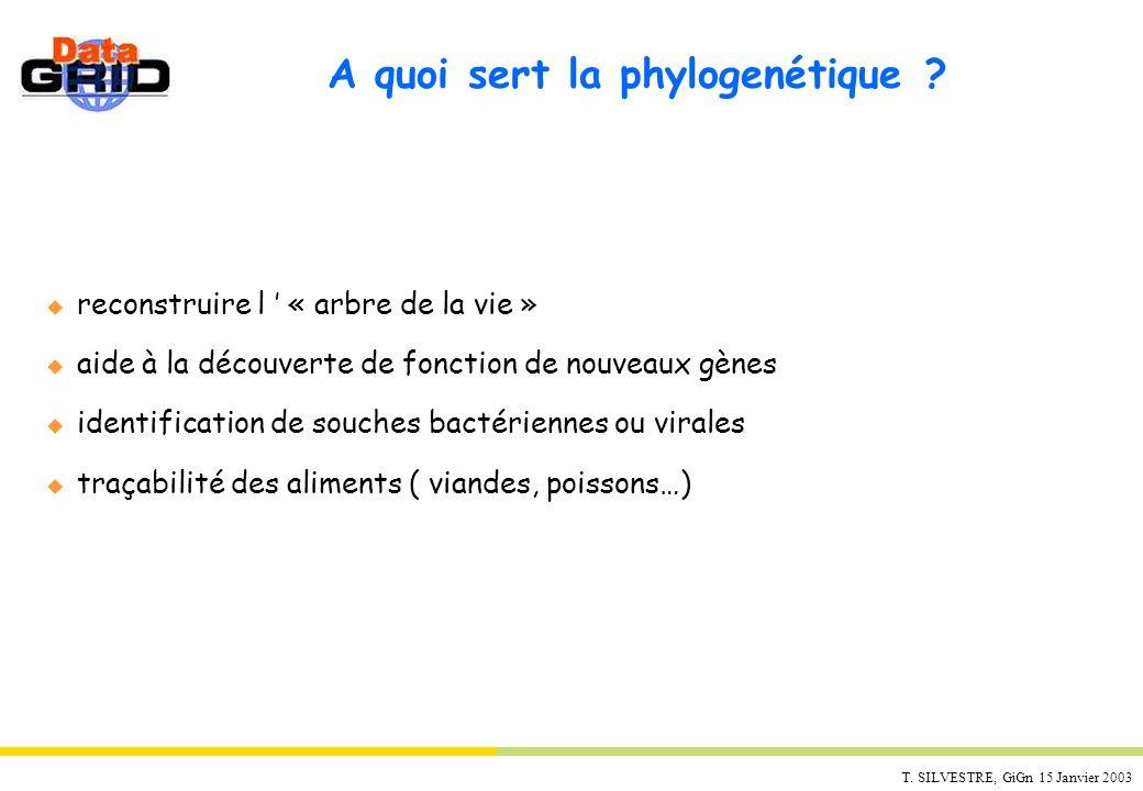 A quoi sert la phylogenétique
