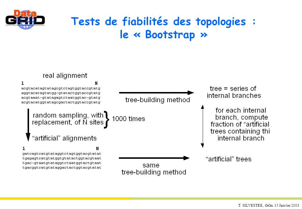 Tests de fiabilités des topologies : le « Bootstrap »