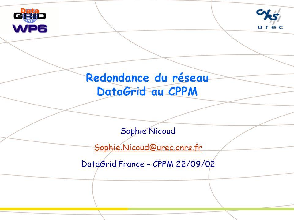 Redondance du réseau DataGrid au CPPM