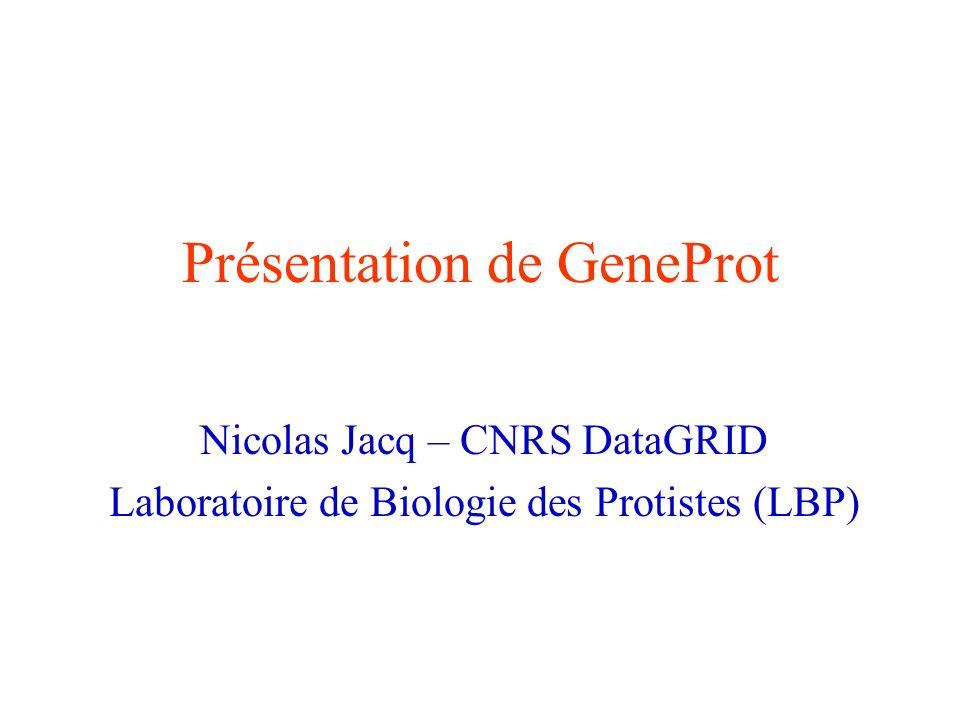 Présentation de GeneProt