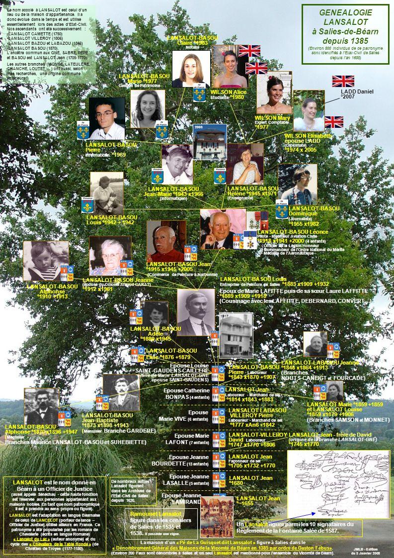 GENEALOGIE LANSALOT à Salies-de-Béarn depuis 1385