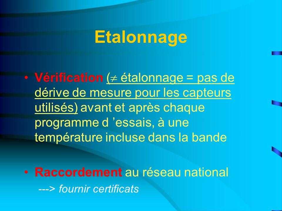 Etalonnage