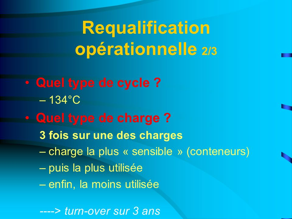 Requalification opérationnelle 2/3