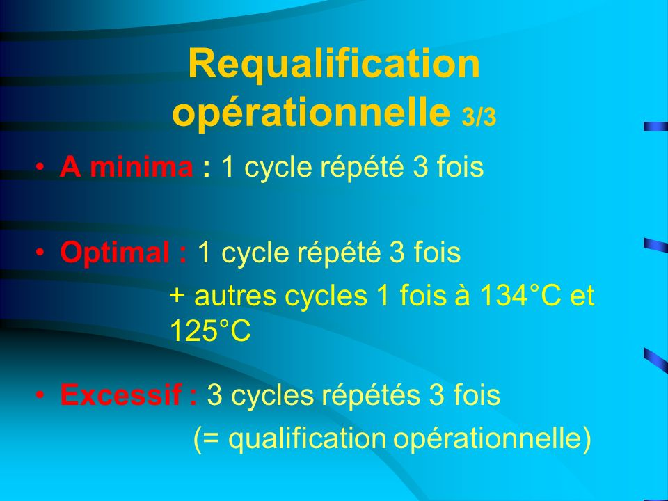 Requalification opérationnelle 3/3
