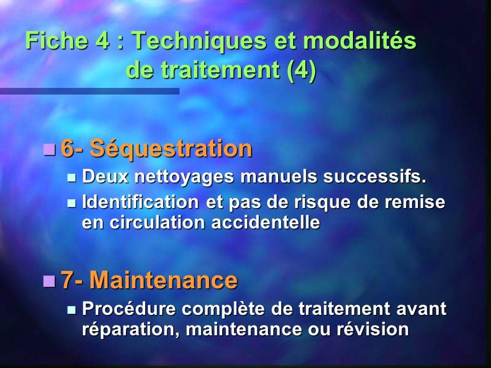 Fiche 4 : Techniques et modalités de traitement (4)