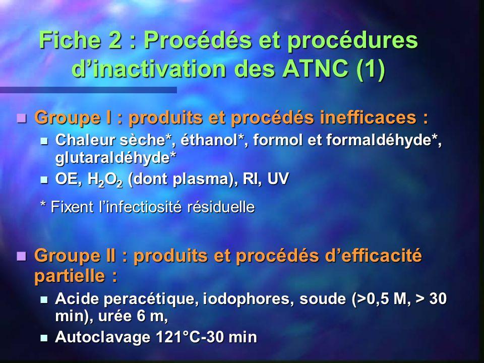 Fiche 2 : Procédés et procédures d'inactivation des ATNC (1)