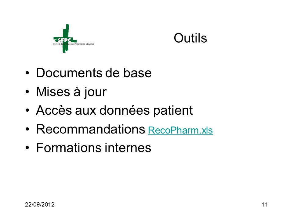 Accès aux données patient Recommandations RecoPharm.xls