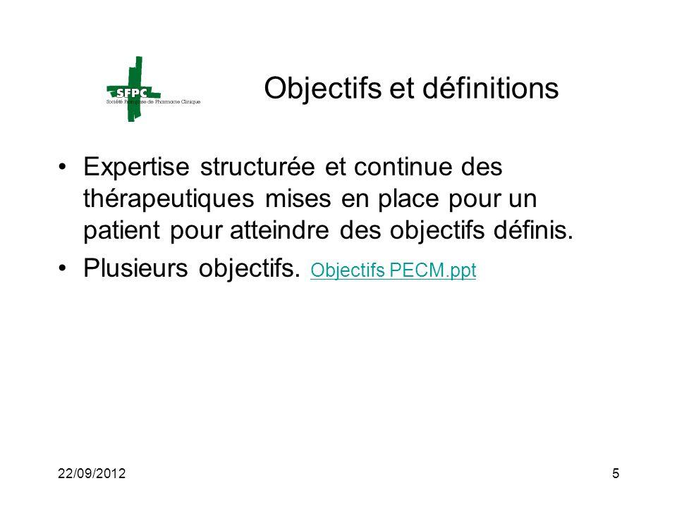 Objectifs et définitions
