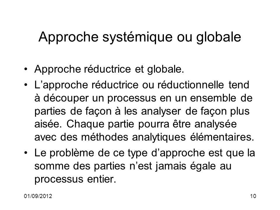 Approche systémique ou globale